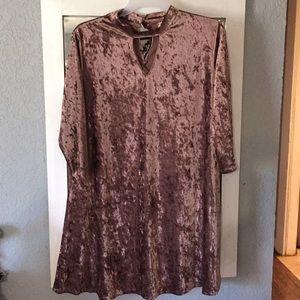Velvet key hole blouse